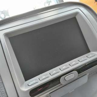 Monitor with CD player, USB, SD card, games, radio and TV. Can support mp4. Harga beli RM 588.00. Ada 2 set. Color grey.
