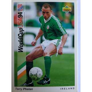 Terry Phelan (Ireland) - Soccer Football Card #157 - 1993 Upper Deck World Cup USA '94 Preview Contenders