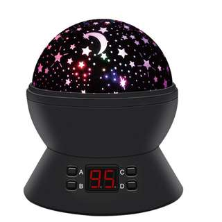 616. Star Sky Night Lamp,ANTEQI Baby Lights 360 Degree Romantic Room Rotating Cosmos Star Projector With LED Timer Auto-Shut Off,USB Cable For Kid Bedroom,Christmas Gift (Black)