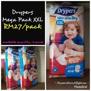 Drypers XXL (Tape Type)