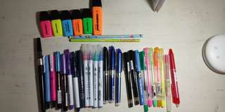 Assorted Pens and Brush Pens