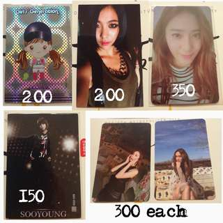 Kpop Photocards SNSD FX