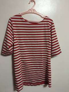 Bench Red and White Striped Top