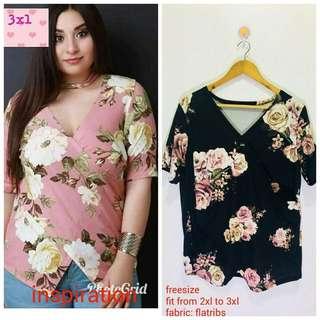 Plus size floral blouse