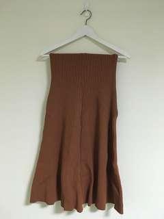 🚚 復古圓裙 針織長裙 焦糖色 購自ACHIC