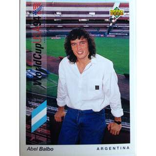 Abel Balbo (Argentina) - Soccer Football Card #153 - 1993 Upper Deck World Cup USA '94 Preview Contenders