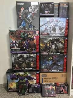Transformers Takara Unite Warriors Hasbro Combiner Wars with Addons / Upgrade Kits