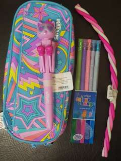 SALE  SMIGGLE Soft Pencil Case w/ Accessories