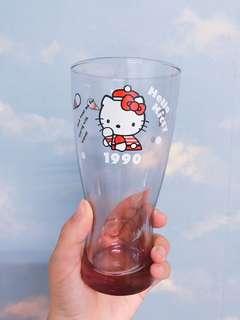 🚚 7-11 Hello kitty 40TH經典玻璃曲線杯-1990年粉紅冰淇淋款