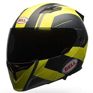 Bell Revolver Evo SIZE LARGE ONLY Jackal Full Face Modular Convertible Open Face Motorbike Motorcycle Helmet Matte Hi Viz Vizability Yellow Black