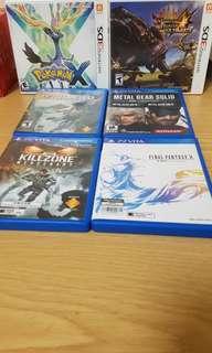 VITA 3DS GAMES