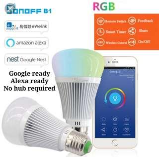 Sonoff smart bulb (Google & Alexa ready)
