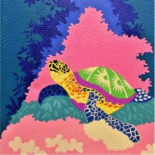 Turtle Cave Painting (70cm × 90cm)