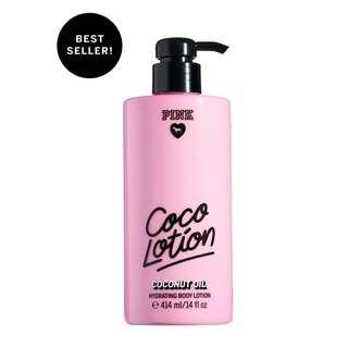 NEW! VICTORIA'S SECRET PINK COCO LOTION COCONUT OIL 414ML