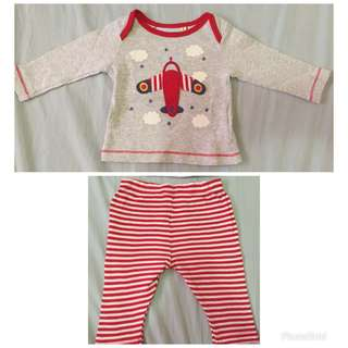 Preloved mothercare long sleeves and pajama set