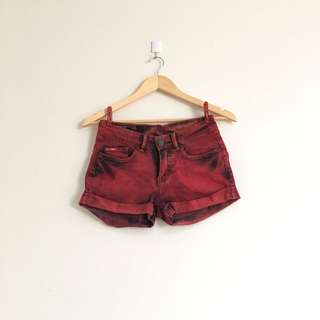Lee Cooper washed red shorts
