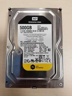 """WD Western Digital 500GB Enterprise Hard Disk SATA 硬盤 3.5"""" 硬碟"""