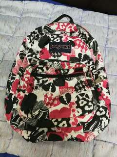 Authentic Jansport Half Pint - Black & Pink Hearts