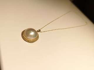 海水马貝珍珠項鏈Saltwater Mabe Pearl Necklace