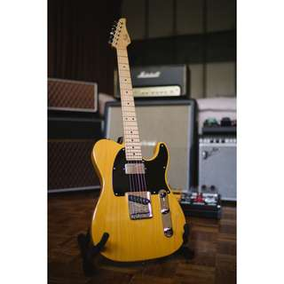 Suhr Classic T Pro H-S Swamp Ash in Butterscotch Blonde with a Maple Fretboard Telecaster
