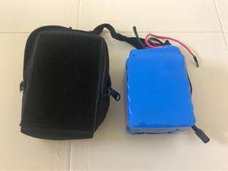 36v 10.5ah battery with customized bag