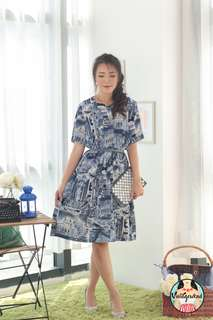🍿 Vintage Midi Dress VD1313