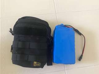 36v 10.4ah battery with bag