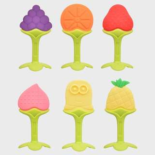 imported fruit shape silicone teether