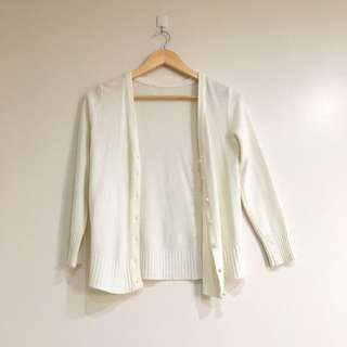 White Cardigan (pearl buttons)