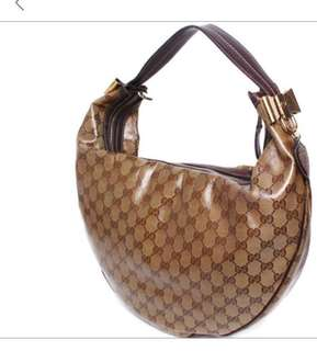 Authentic Gucci Crystal Hobo Bag