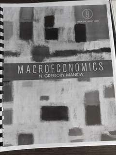 Macroeconomics Ninth Edition by N.Gregory Mankiw