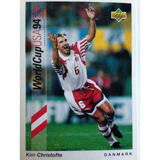Kim Christofte (Denmark) - Soccer Football Card #149 - 1993 Upper Deck World Cup USA '94 Preview Contenders