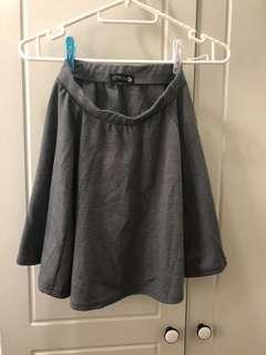 灰色短裙 grey dress