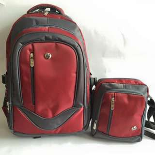 2in1 Backpack Size: 18inch Nylon P480