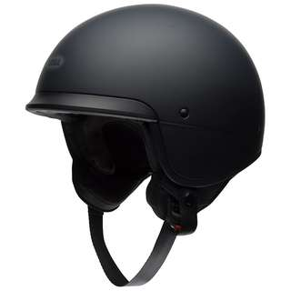 Bell Scout Air Cruiser Motorcycle Motorbike Cafe Racer Vintage Cruiser Harley Davidson Open Face Bucket Round Helmet Solid Gloss Black SIZE SMALL MEDIUM LARGE X-LARGE XX-LARGE XL XXL X-SMALL
