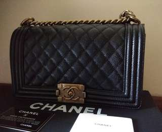 Chanel Caviar Old Medium Boy