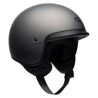 Bell Scout Air Cruiser Motorcycle Motorbike  Solid Matte Titanium Cafe Racer Vintage Cruiser Harley Davidson Open Face Bucket Round Helmet Solid Gloss Black SIZE SMALL MEDIUM LARGE X-LARGE XX-LARGE XL XXL X-SMALL MS Solid Matte Titanium Solid Gloss Black