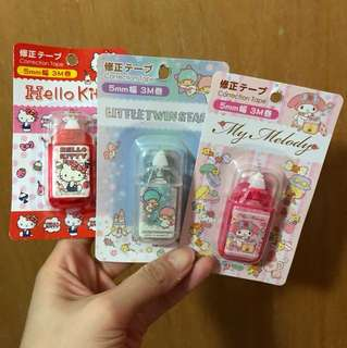 Little twin stars my melody hello kitty correction tape