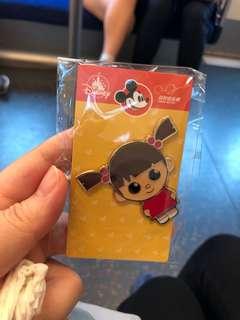 HKDL Pins香港迪士尼徽章 怪獸公司系列 阿Boo