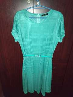 Blue Green Dress - plus size