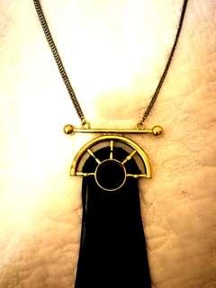 Topshop gold tassel necklace