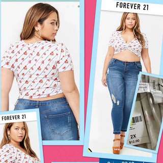 Bnew forever21 plus size crop top