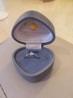 鑽石戒指  13圈口