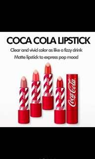 The face shop X coca cola lipstick