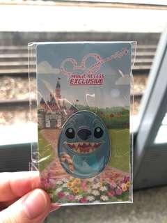 HKDL Pins 香港迪士尼徽章 花蛋系列 史迪仔