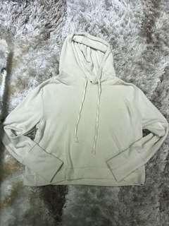 Nude hoodie crop top