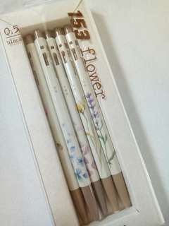 Monami Pens 153 Flower Series (Set of 5)