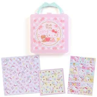 Japan Sanrio Hello Kitty Origami Stationery Set