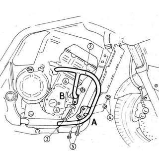 Hepco & Becker Engine Guard for Yamaha FZS1000 2004-2006
