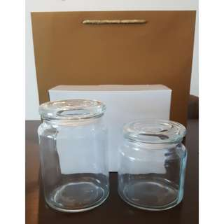 2 pcs of Glass Jar/Container